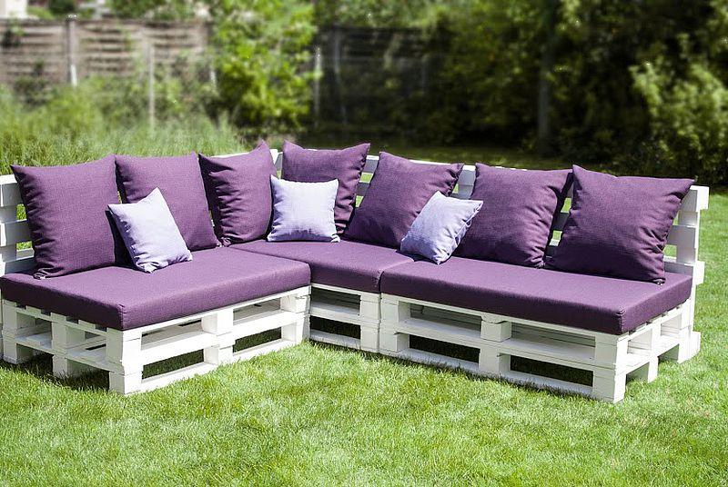 Garten-Couch aus Paletten
